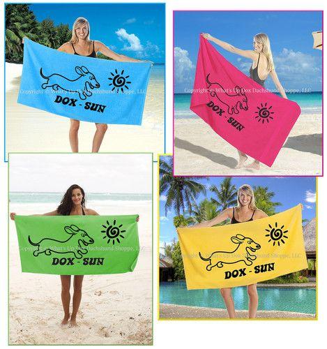 Dox Sun Beach Towels Dachshund Beach Towel Beach
