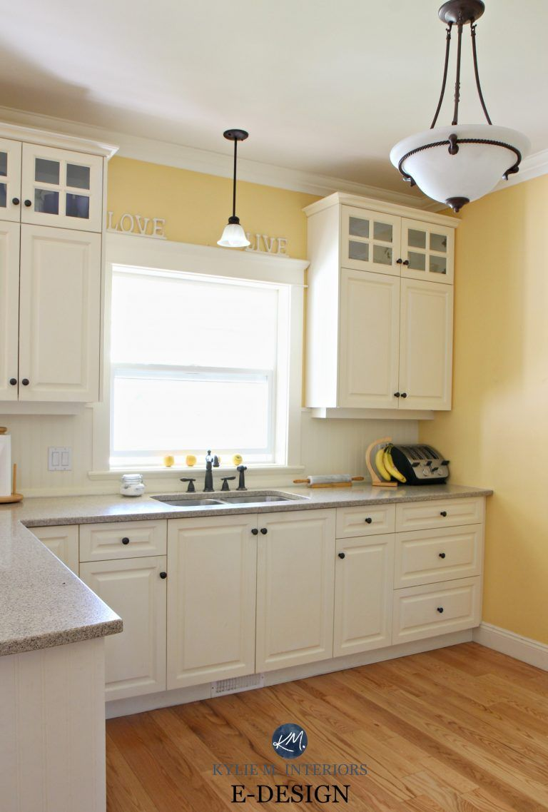 yellow kitchen walls with oak cabinets, 4 Ideas: How to Update Oak / Wood Cabinets For the Home