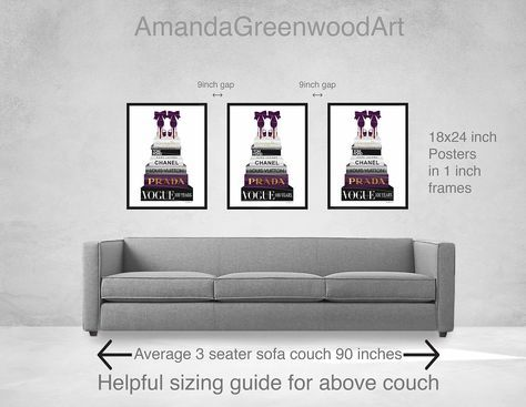 Art Over Couch Size Guide 18x24 Inches Set Of Three What