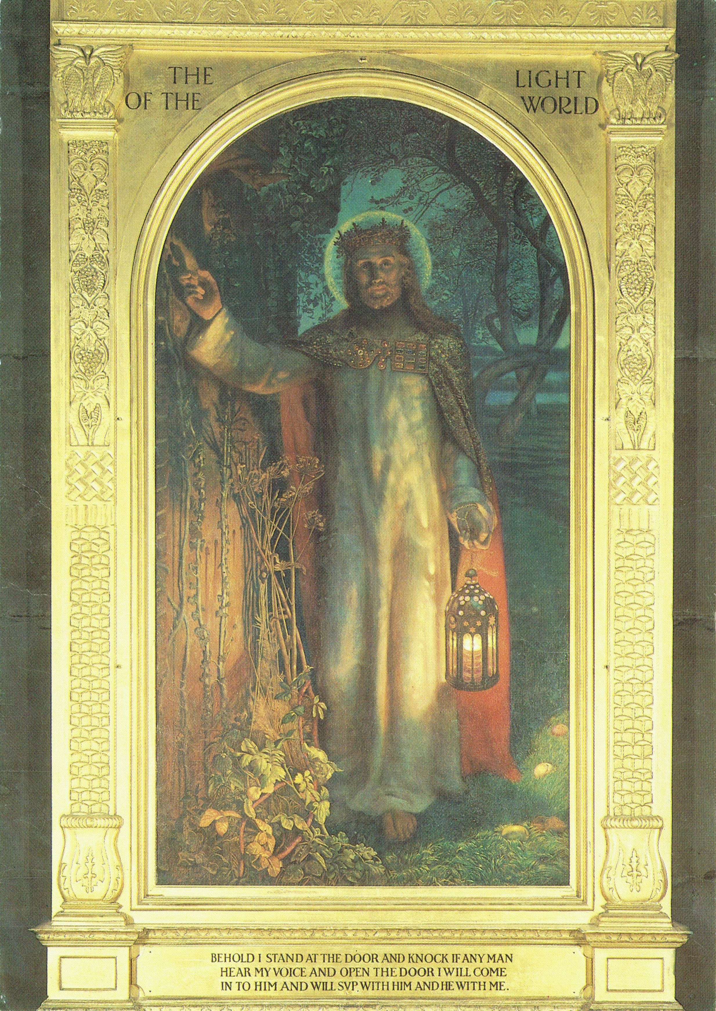 The Light Of The World By Holman Hunt Painted 1900 From Original