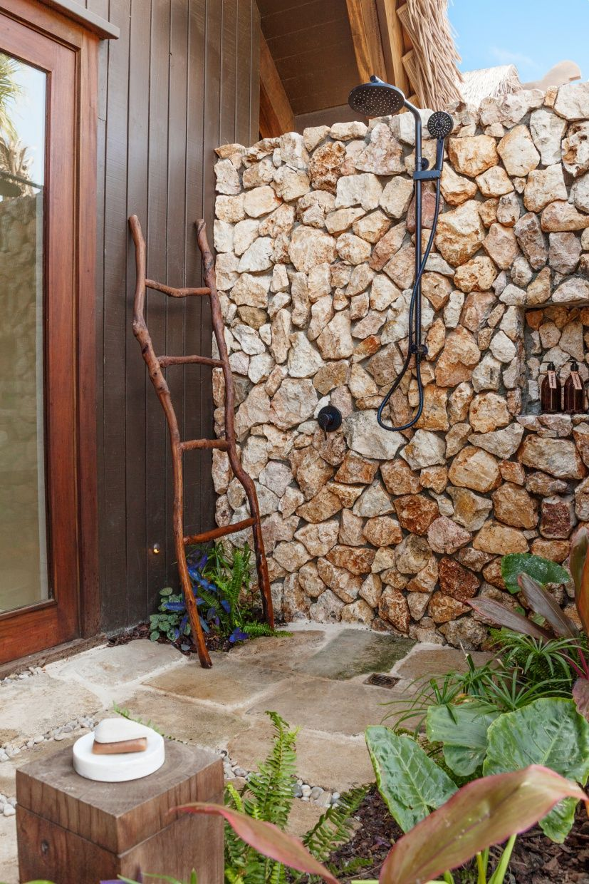 Shower Amongst Nature Tuscan Pool Outdoor Shower Outdoor Bathrooms