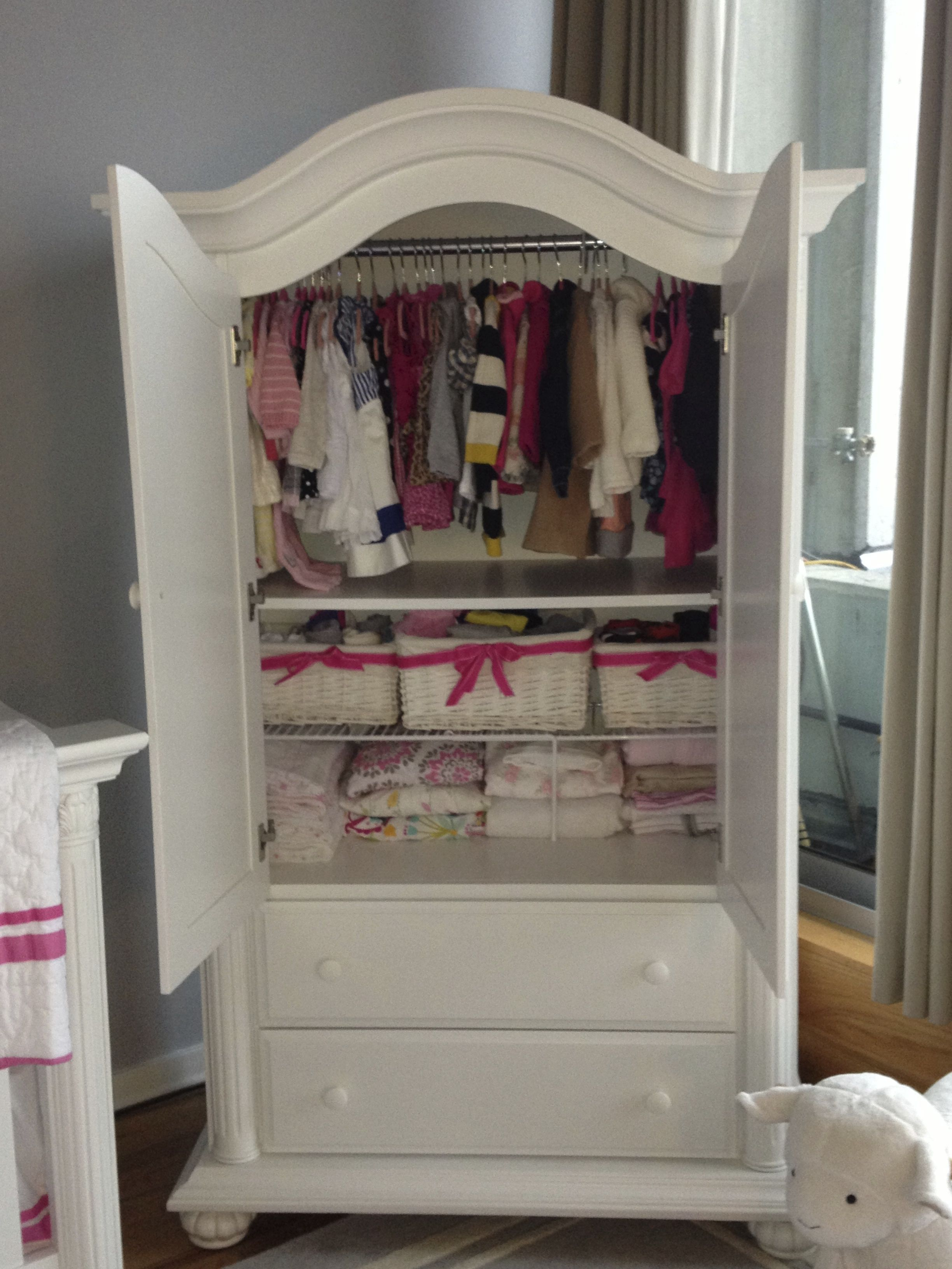 No Closet In The Nursery, So This Baby Cache Armoire