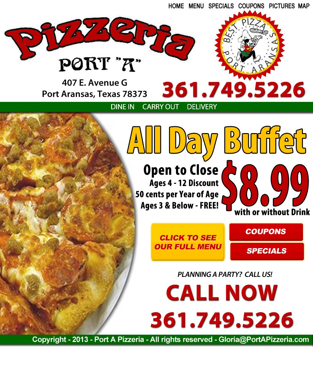 Port A Pizzeria Best Pizza In Port Aransas Port Aransas Port