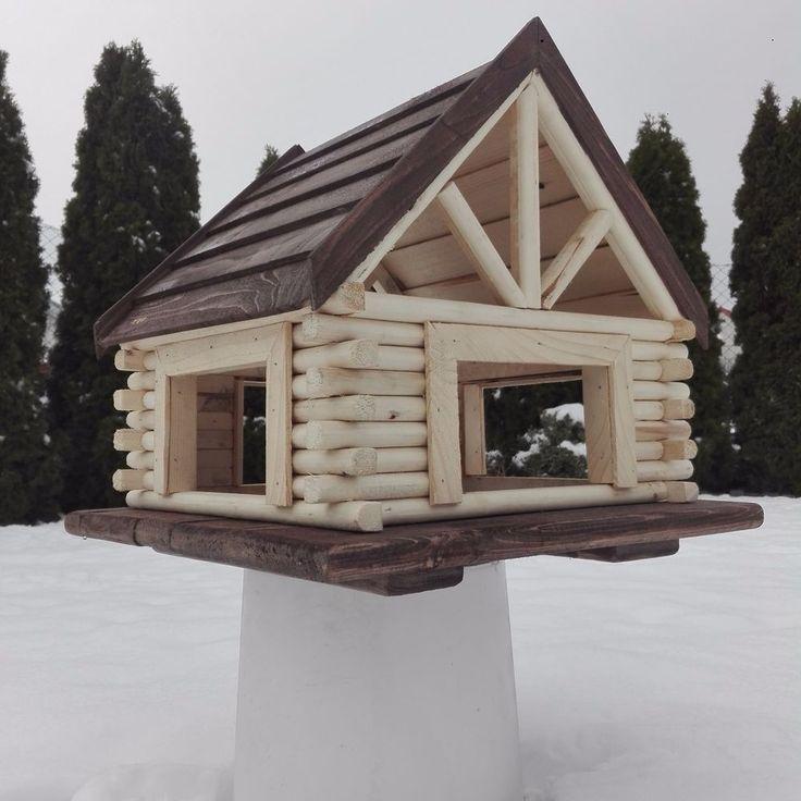 Vogelhauser mit Stander ! VOGELHAUS aus HOLZ Vogelhäuschen Vogelfutterhaus XXL ... #birdhouses