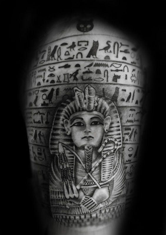 60 King Tut Tattoo Designs For Men Egyptian Ink Ideas Tattoos