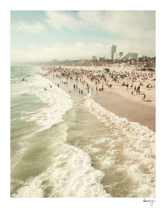 Beach Photo Los Angeles Photography Santa Monica La Photos Ocean Waves California Calming Sea Foam Beach Art Prints Los Angeles Photography Beach Art