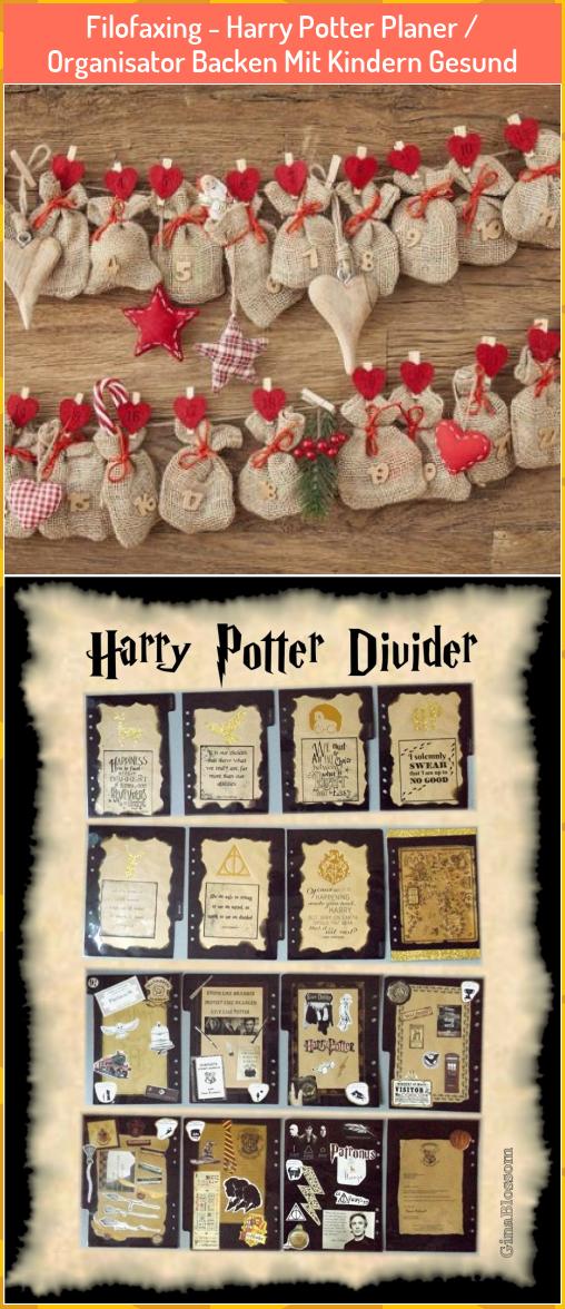 Filofaxing Harry Potter Planer Organisator Backen Mit Kindern Gesund Filofaxing Harr Adventskalender Basteln Adventskalender Basteln Ideen Adventkalender