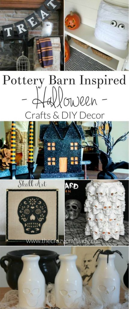 Pottery Barn Halloween DIY Decor and Crafts Pottery barn halloween - cute halloween diy decorations