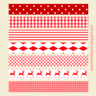 Free printable red and white Christmas scrapbooking stripes - ausdruckbare Schmuckpapier - freebie | MeinLilaPark