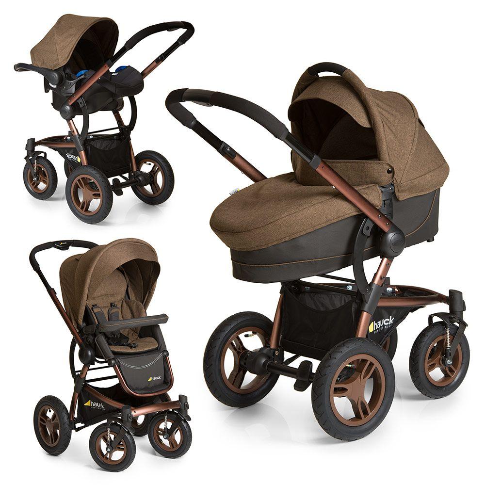 Hauck Kinderwagen Set King Air Plus Trio Set Melange Chocolate Baby Equipment Baby Car Seats Chocolate Babies
