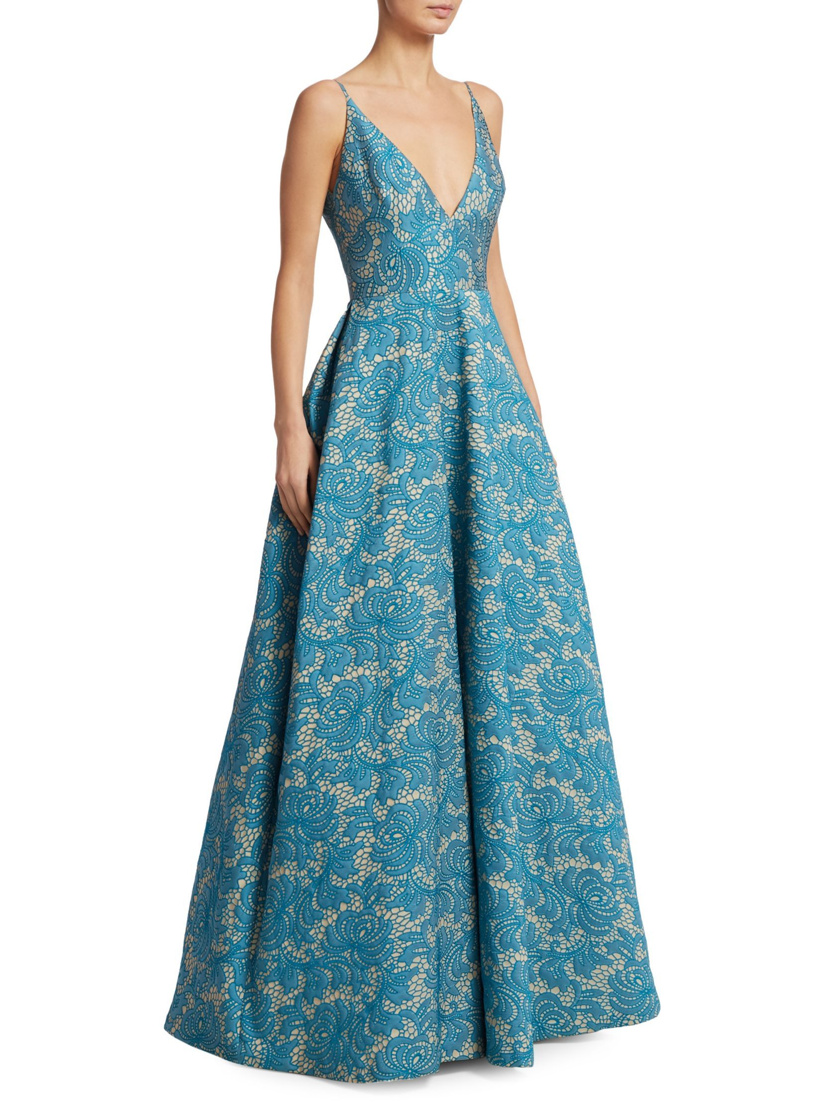 ML Monique Lhuillier Floral Ballgown | Dresses | Pinterest | Monique ...