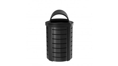 Outdoor Trash Can With Wheels 35 Gallon Commercial Metal Trash Can Mtcrnd3501  Outdoor & Indoor