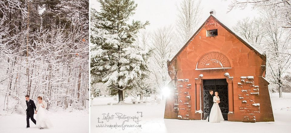 Winter wedding photographs, Marquette MI. Photos by Heather Kanillopoolos Photography! http://www.heatherkan.com