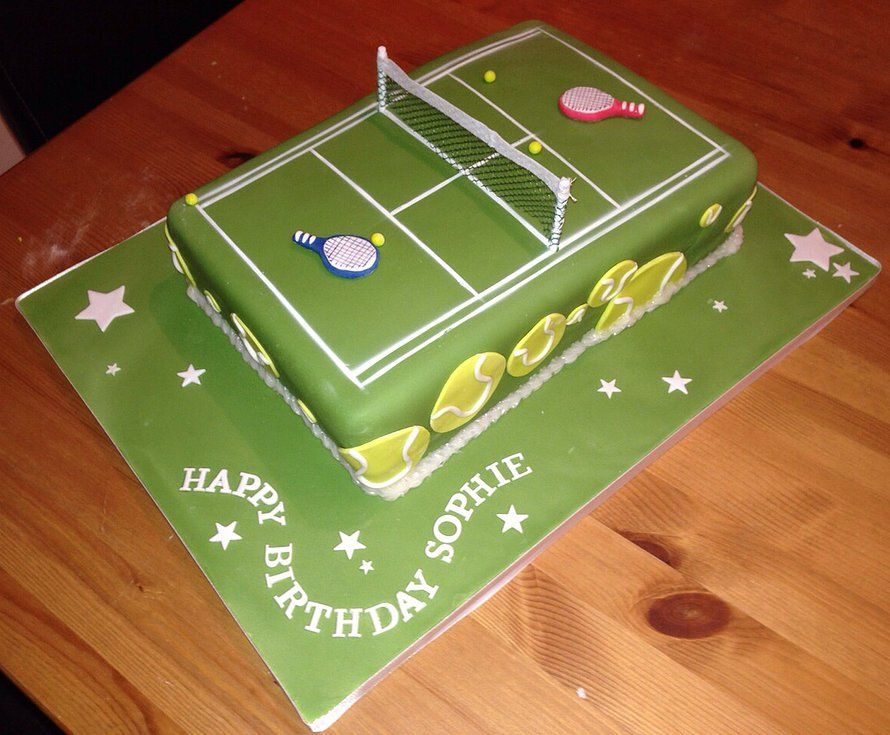 Remarkable Easy Tennis Cake Google Search Tennis Cake Unique Cakes Personalised Birthday Cards Veneteletsinfo