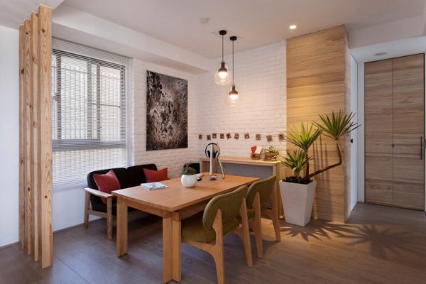 Modern Apartment In Taiwan Exudes Inspiring Form And Freshness. Red Dining  RoomsApartment ...
