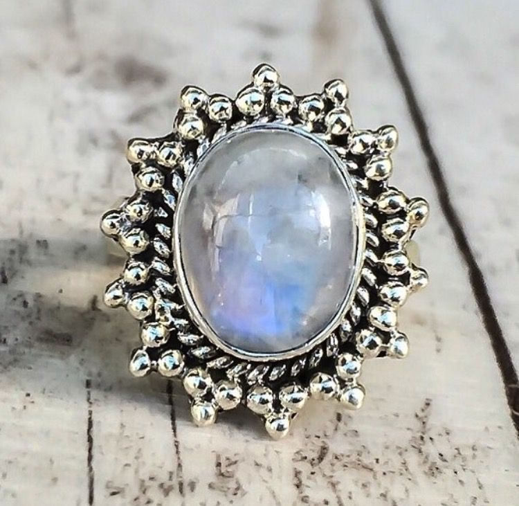 BACK IN STOCK || Moonstone Sun Ring