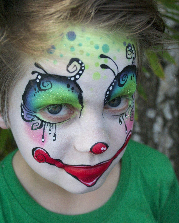 Pin by Adrienne D  Allen on Face Art | Clown face paint