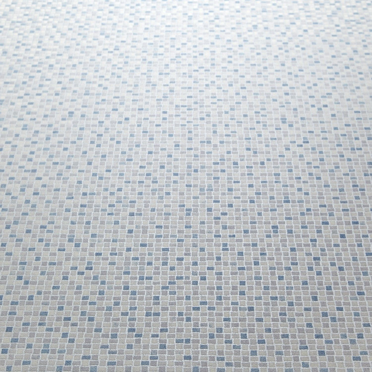 Carpet Right - Mercury 573 Nemo Blue Mosaic Tile Effect Vinyl ...