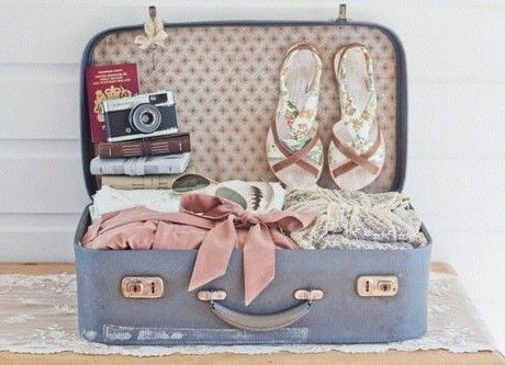 Passport, sandals, camera, sunnies & clothes (  cute vintage ...