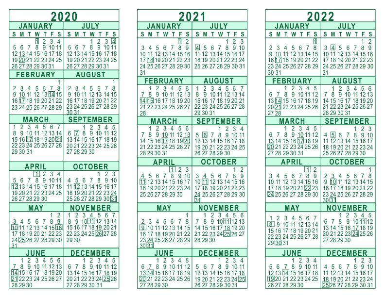 20+ 2020 2021 2022 Calendar - Free Download Printable ...