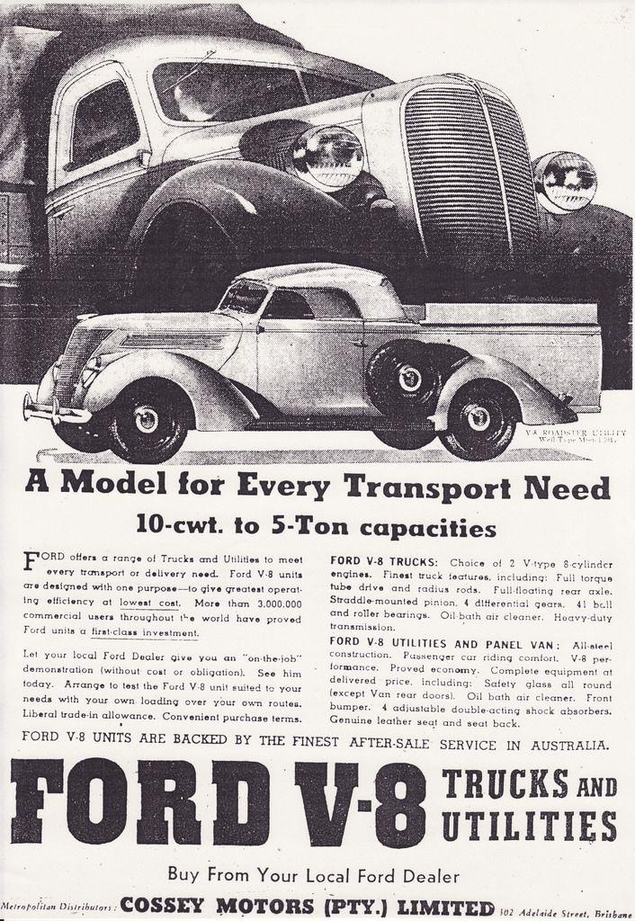 Ford Australia 1937 roadster ute advert.  sc 1 st  Pinterest & Ford Australia 1937 roadster ute advert. | Vintage Automotive ... markmcfarlin.com