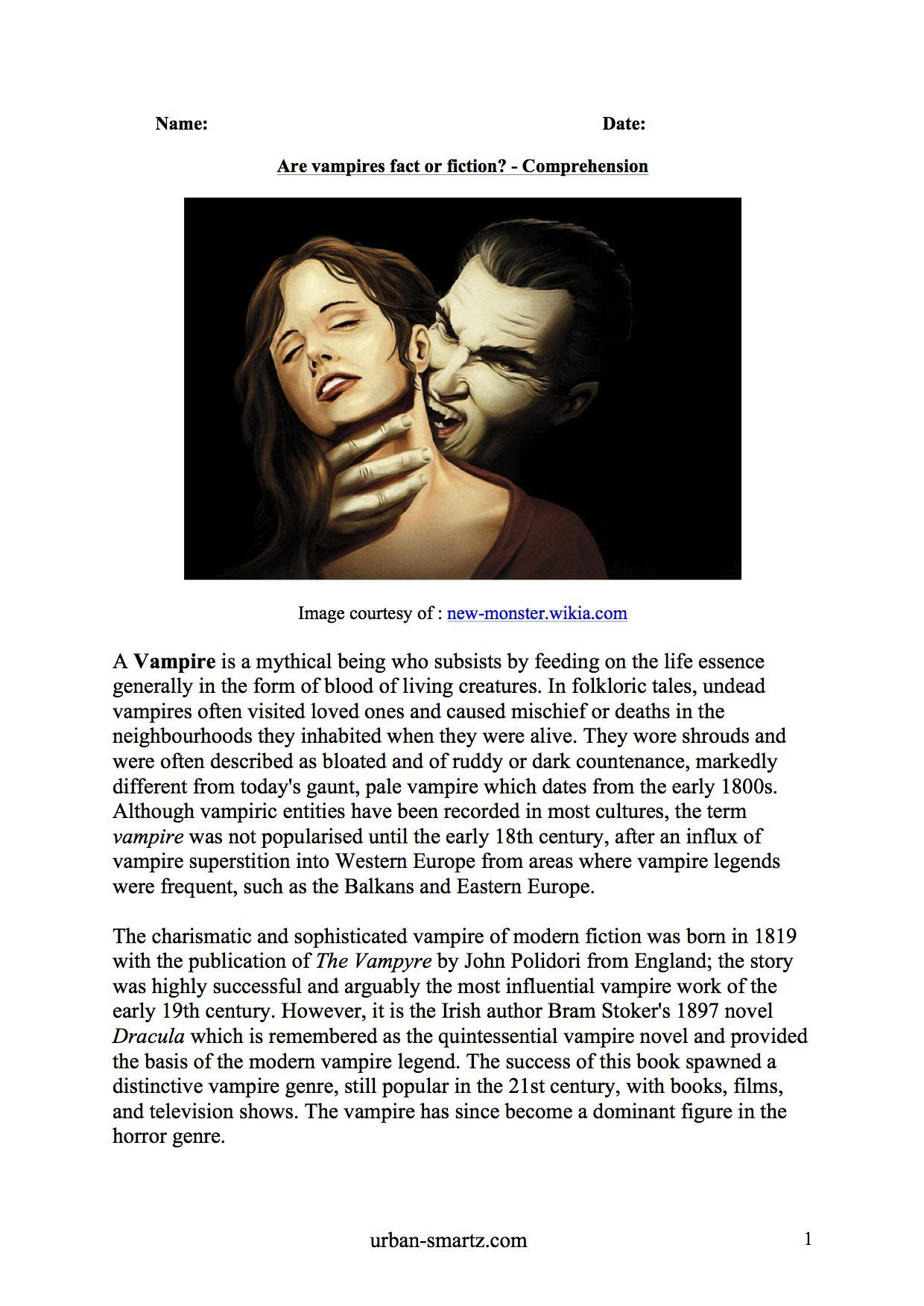 Are Vampires Fact Or Fiction