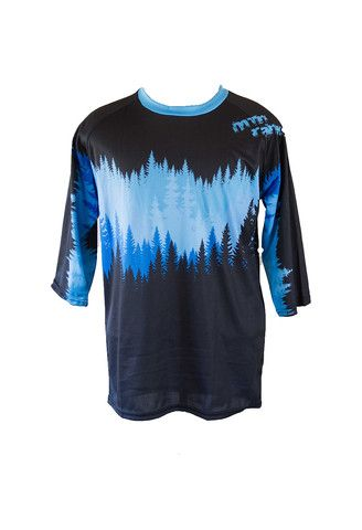 fff8c012c MtnRanks Tree Line 3 4 sleeve downhill enduro mtb mountain bike jersey front