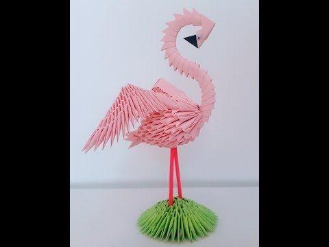 How To Make 3d Origami Swan Basket Youtube 1e Pinterest 3d
