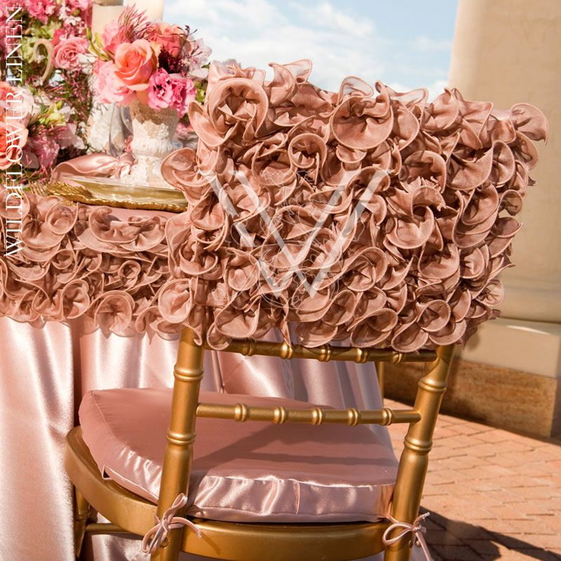 Chair Pad Covers Wedding Desk Homesense Photo Inspiration Gallery Chairs Table Cap Over Crepe Back Satin Blush Underlay Isabella