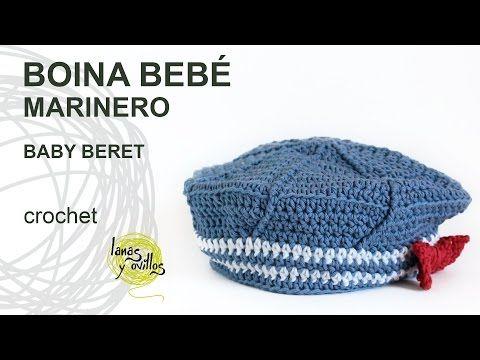 5e6a7b796b0b9 Tutorial Boina Bebé Marinero Crochet o Ganchillo - YouTube