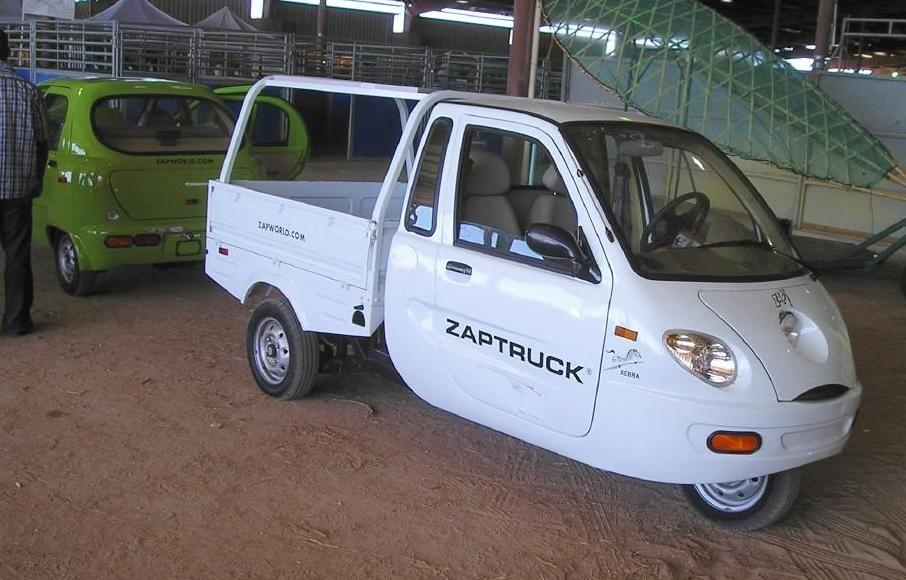 2006 2009 Zap Xebra Zap Zebra Three Wheeled Electric City