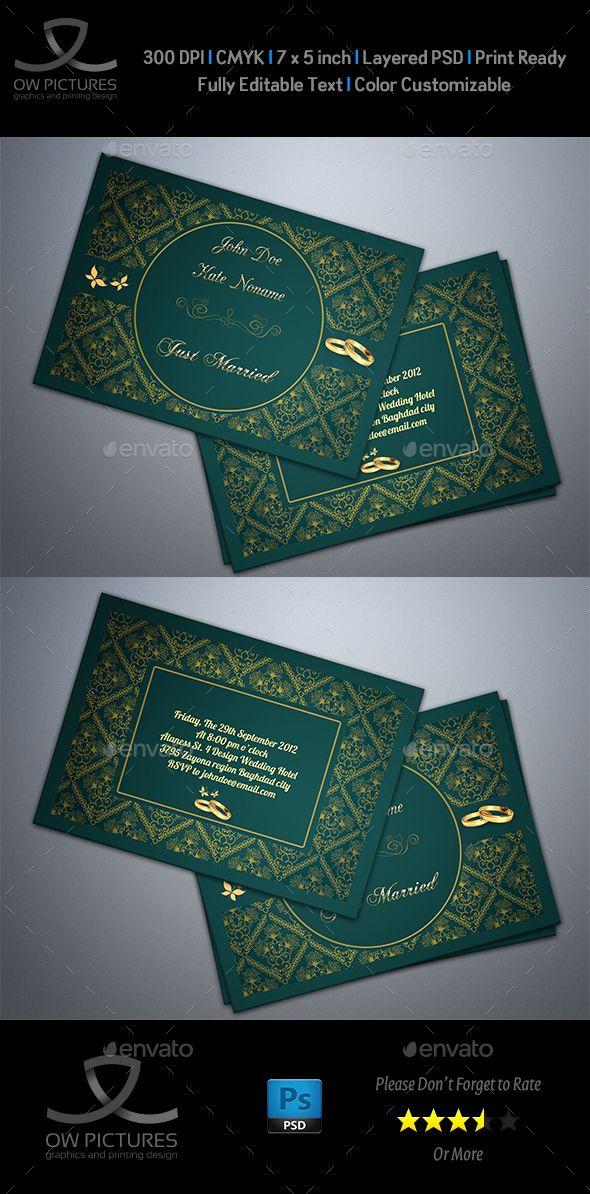 Wedding Invitation Vol2 Wedding invitation card template, Wedding - birthday invitation card template photoshop