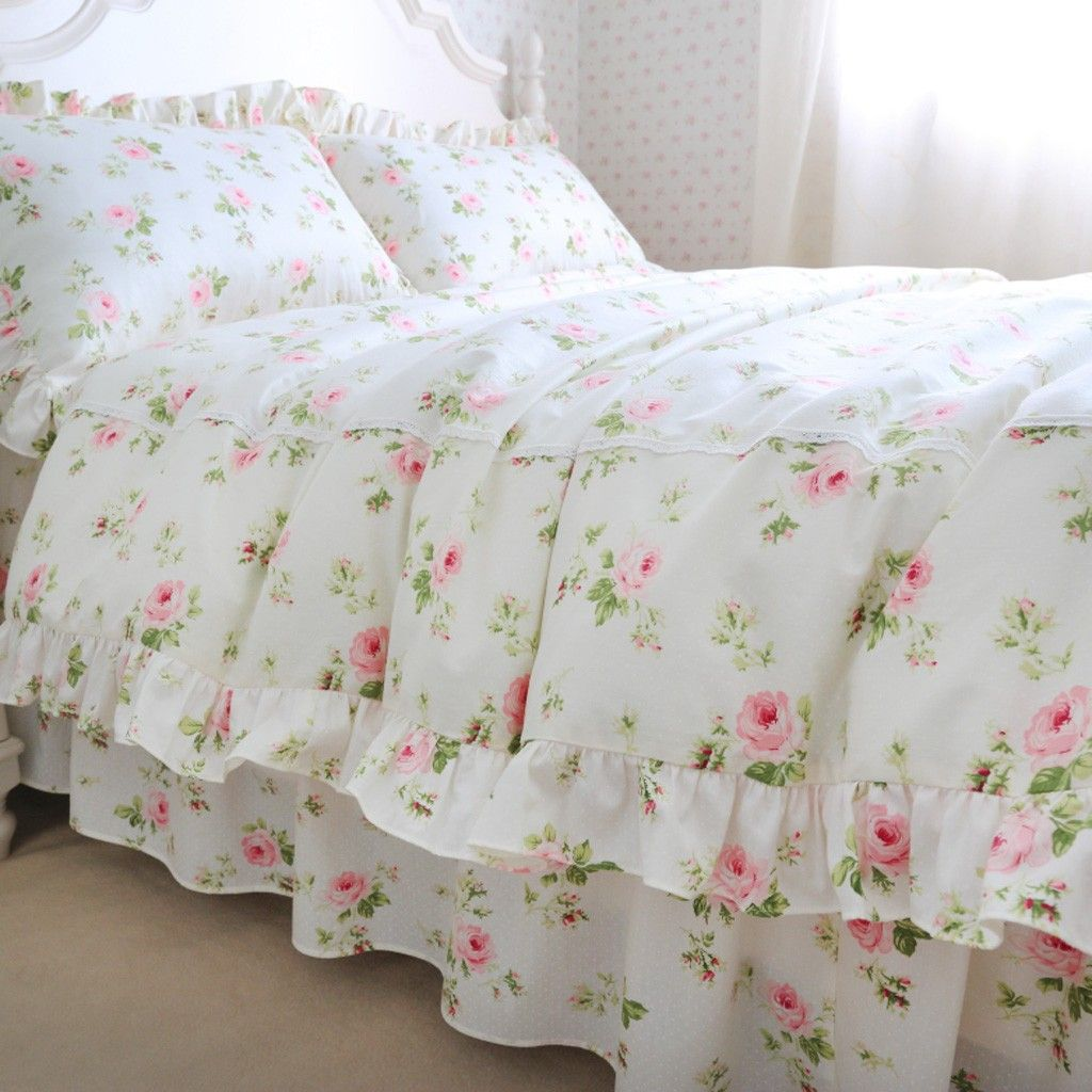 Cottage Rose Duvet Cover Set Camino Real Shabby Chic
