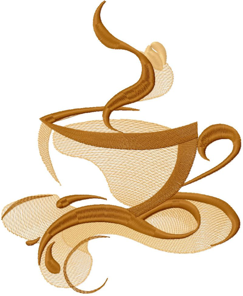 Coffee Cup Free Embroidery Design 7 Kitchen And Cooking Embroidery
