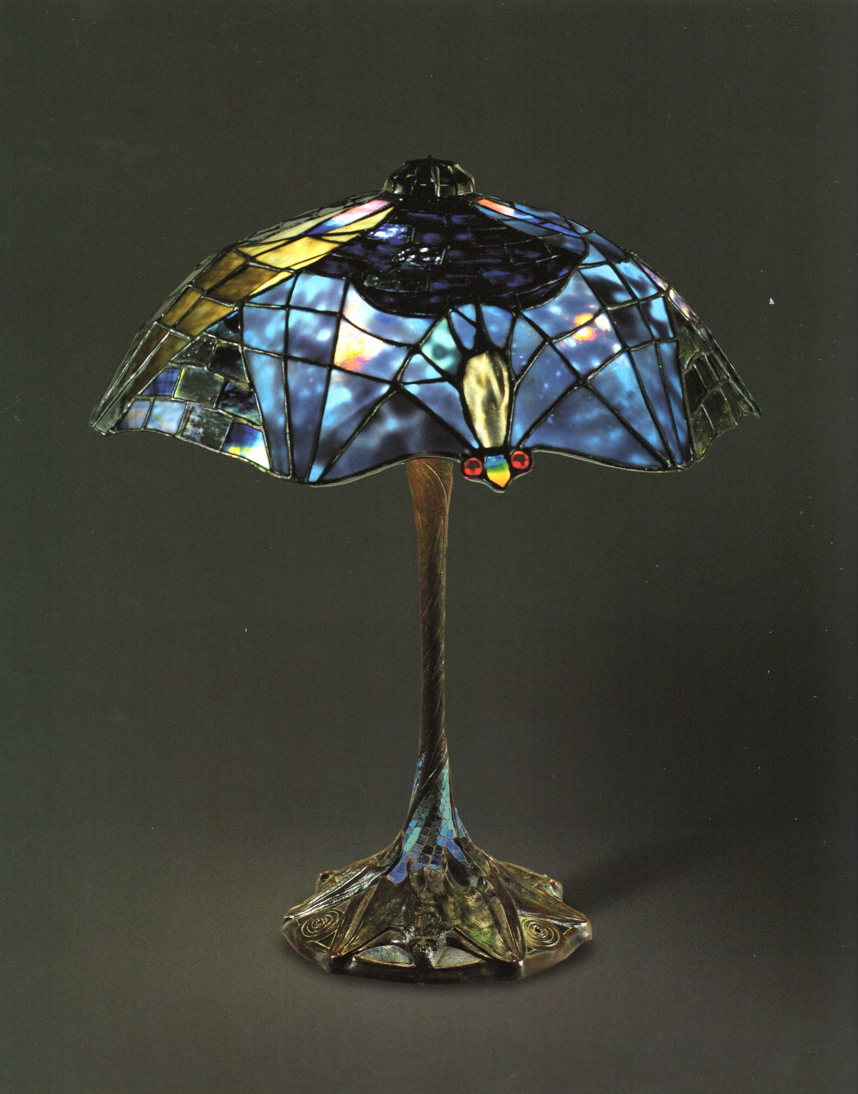 LCT - 062 Bat Lamp dark coloring | Genuine Tiffany Lamps ...