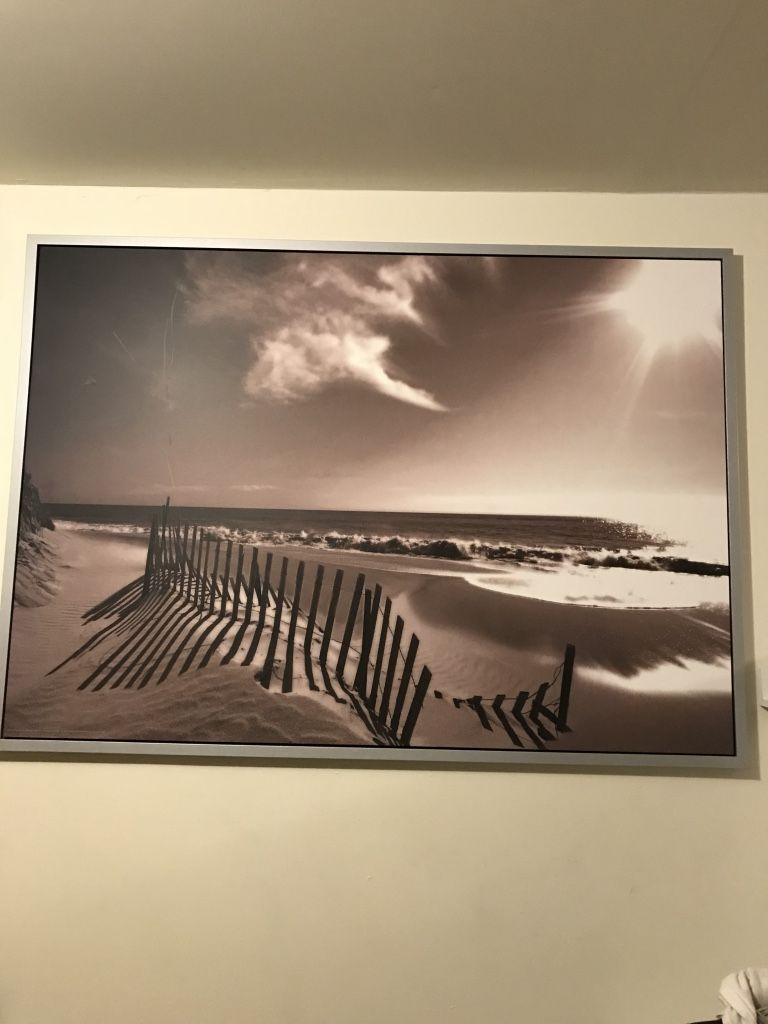Wall Art From Ikea 55 Width 39 1 2 Height Beach In Bronze Sephia