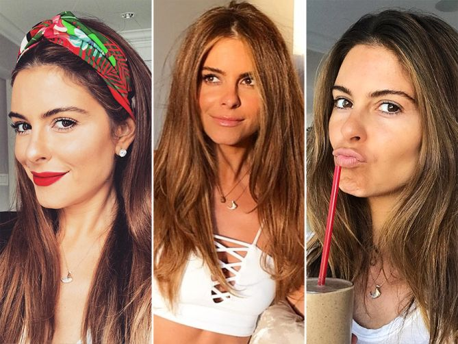 356a4f714b9 I Really Love My  Celebrities  Favorite Brands to Shop  Get this look for  less  Maria Menounos wearing an Elizabeth Bell bobcat claw pendant.