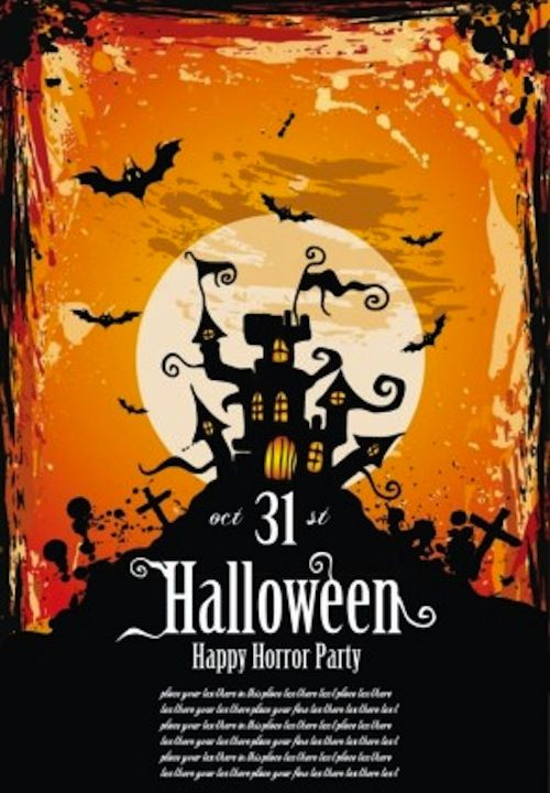 best free halloween flyer templates halloween pinterest