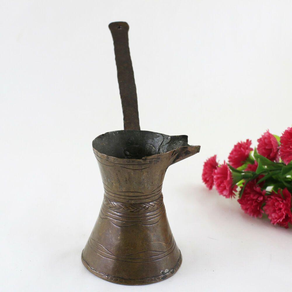 Handmade copper turkish coffee maker vintage coffee pod