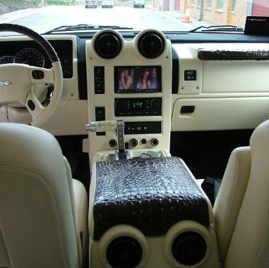 Hummer H2 Leather Interior Hummer H2 Custom Design Full Leather Interior Seats Door Cards