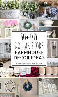 50 Dollar Store DIY Farmhouse Decor Ideas #diyhomedecor #Décor #DIY #Dollar #Farmhouse #Ideas #Store