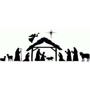 Large nativity scene | Nativity silhouette, Nativity ...
