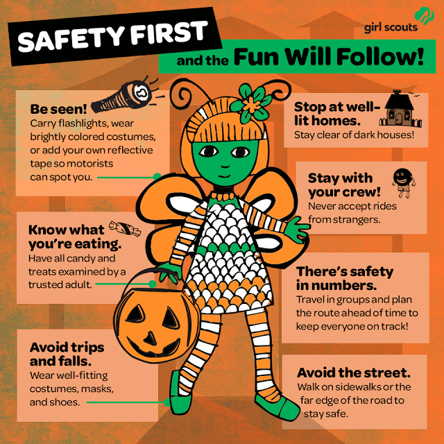 A Fun Illustration To Help Keep Girls Safe This Halloween Girl