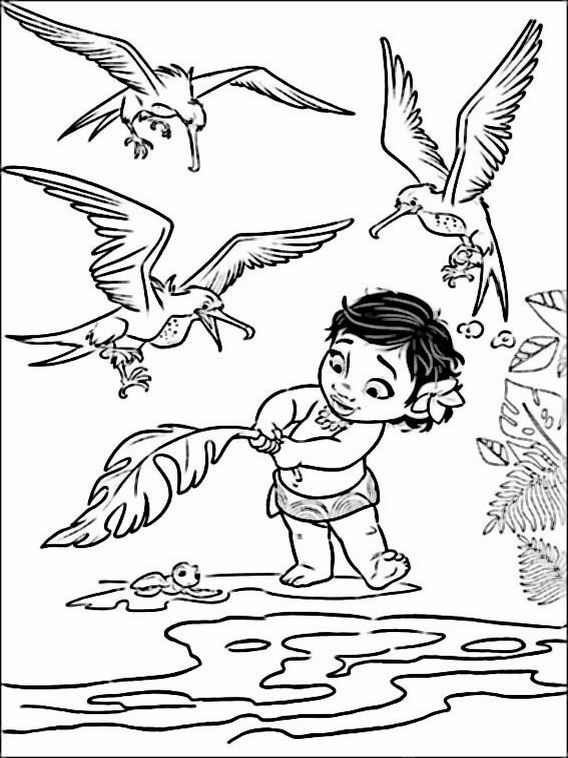 Vaiana - Moana Coloring Pages 7