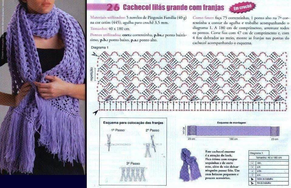 вышеграда начну вязаный теплый шарф крючком схемы и фото яркий