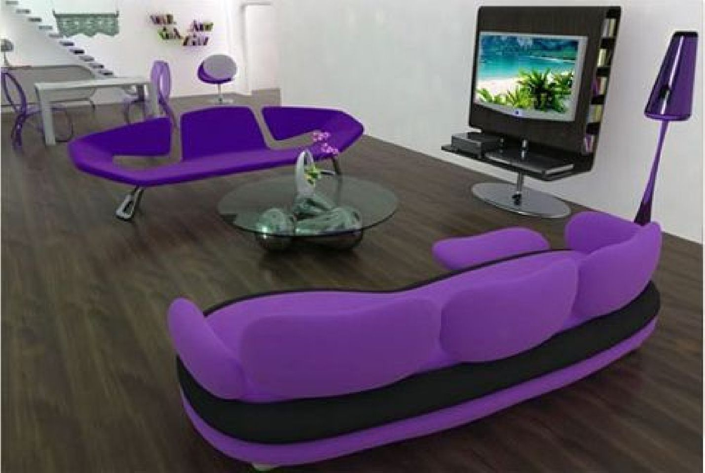 Inspirational Cute Purple Sofa For Fashionable Small Living Room - Cute living room ideas