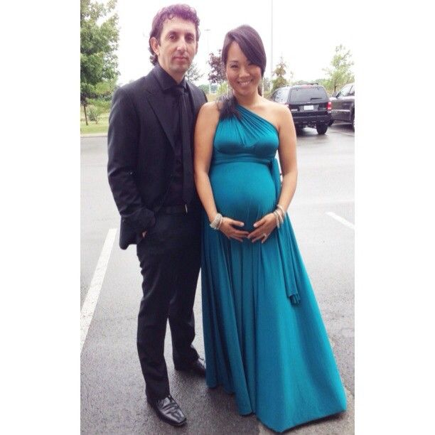 d55287b8c83 Infinity dress and pregnancy.  mateoandmommy in a Sakura Maxi in Deep Teal