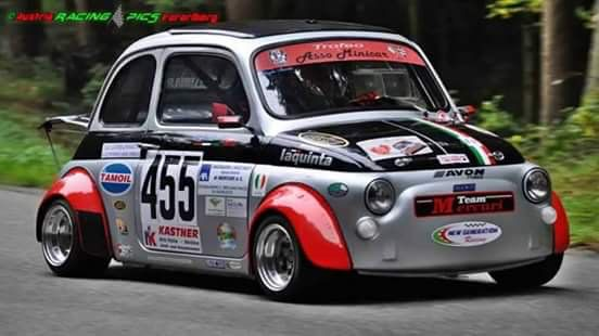 fiat 500 race car cool cars pinterest fiat cars and fiat abarth. Black Bedroom Furniture Sets. Home Design Ideas