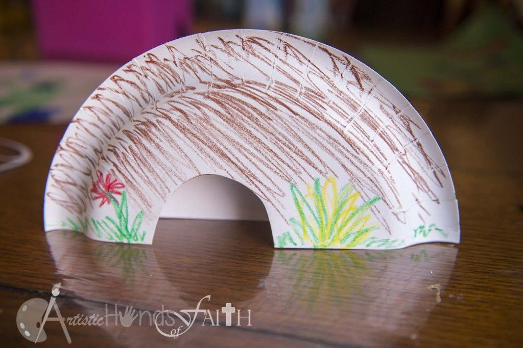 easter craft empty tomb with paper plates | Next assemble the cross using popsicle (craft & easter craft empty tomb with paper plates | Next assemble the cross ...
