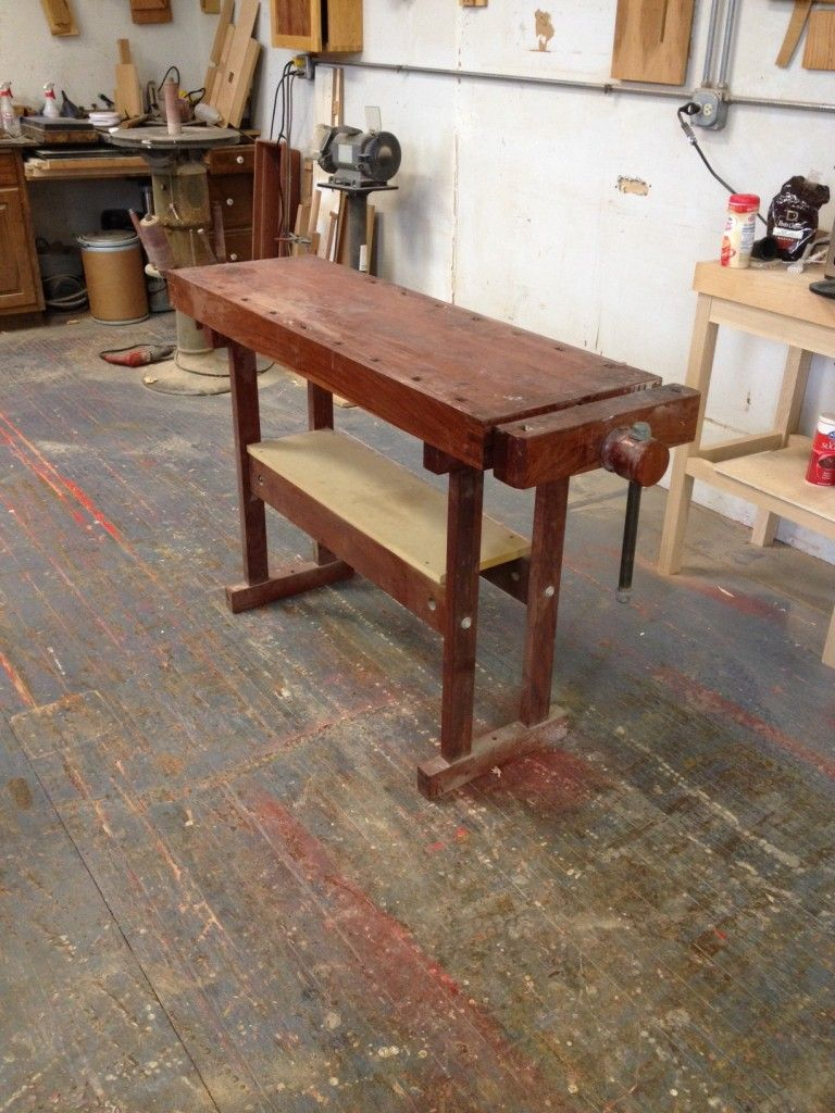 Completed French Oak Roubo Project Bench — furnituremaking